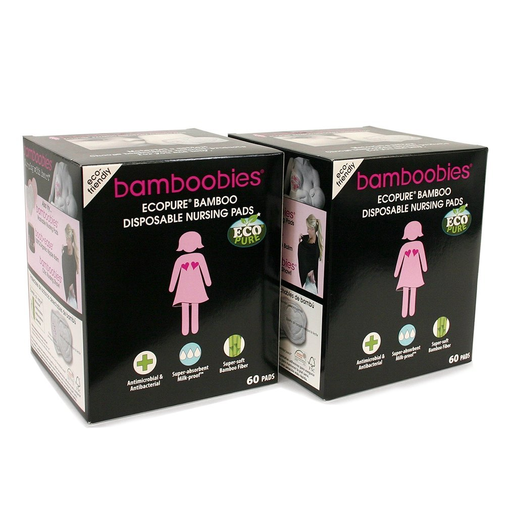 Bamboobies Disposable Nursing Pads for Breastfeeding, Breast Pads for Sensitive Skin , 120 count by Bamboobies