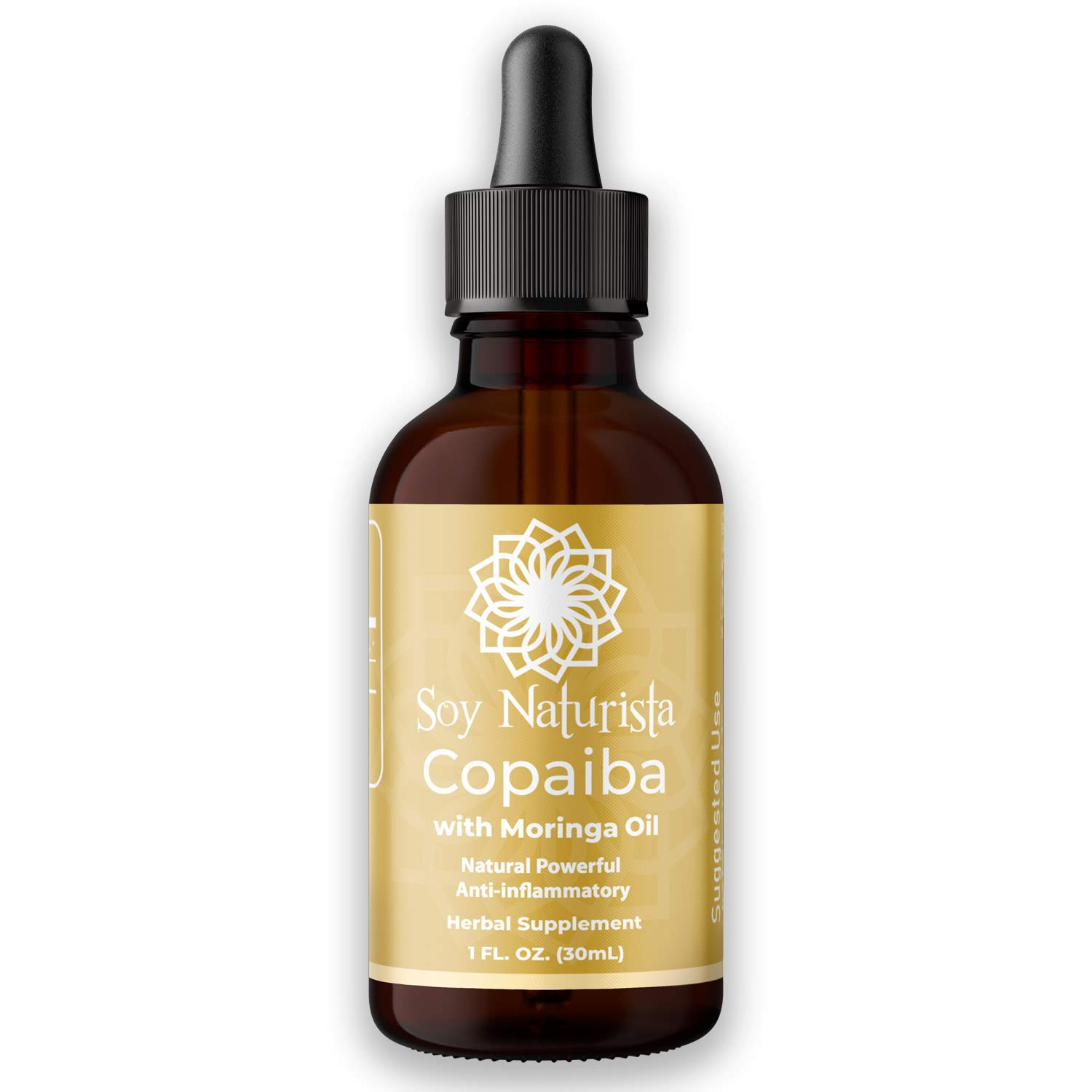 Digestible Essential Copaiba Oil with Cold Pressed Moringa Oil - Natural Powerful Anti-Inflammatory Herbal Supplement - Helps Manage Acute, Chronic Pain and Central Nervous System 30ml (37 Day Supply)