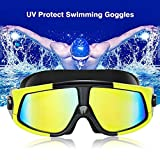 Tmalltide Super Large Frame Swimming Waterproof Anti-Fog UV Protect Swimming Goggles