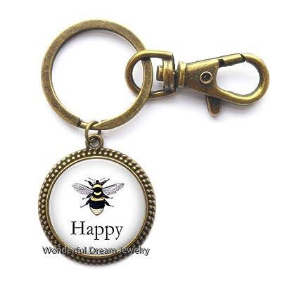 Llavero de abeja BEE Happy Llavero, llavero de abeja ...