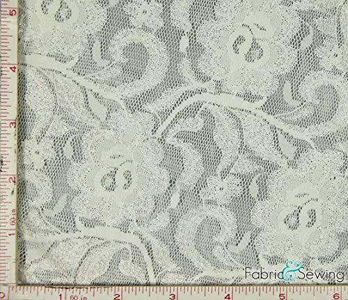 Fabric Dressmaking Fashion Tiny Bows Stretch Cotton Navy Cream
