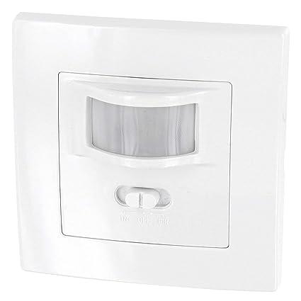 Unterputz PIR Bewegungsmelder 160° - LED geeignet - 2-Draht - Mindestlast nur 1W - für UP-Dosen Ø 60mm und Hohlwanddose Ø 68m