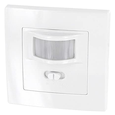 Sensor de movimiento 160° para montaje empotrado en pared, apto para luz led,