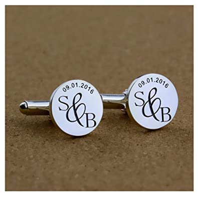 Amazon Personalized Cufflinks For Men 925 Sterling Silver Male
