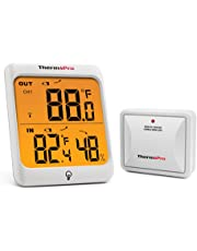 ThermoPro TP63 Digital Wireless Hygrometer Indoor Outdoor Thermometer and Temperature Humidity Monitor with Cold-resistant Humidity Gauge, 200ft/60m Range