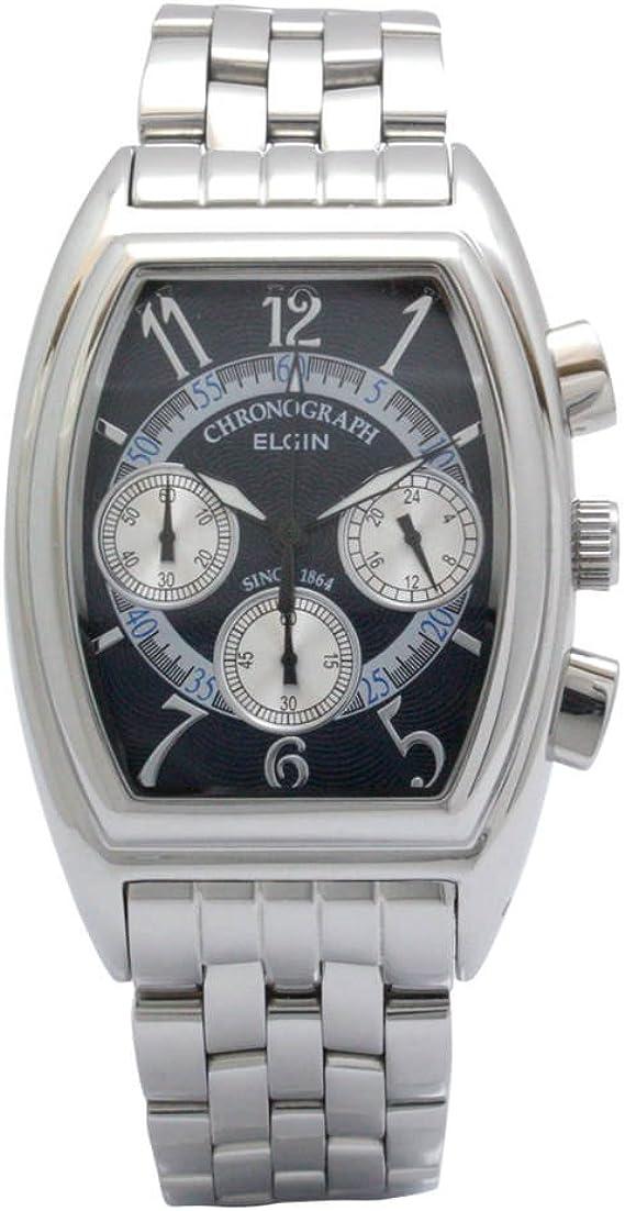 [エルジン] 腕時計 FK1403S-BL メンズ シルバー