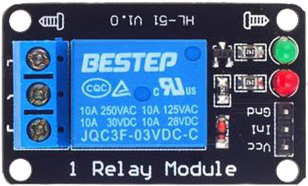 bleu BIYI 1 voie avec lumi/ère Module de relais 3.3v Module de contr/ôle de la luminosit/é de la carte de relais de d/étection de lumi/ère