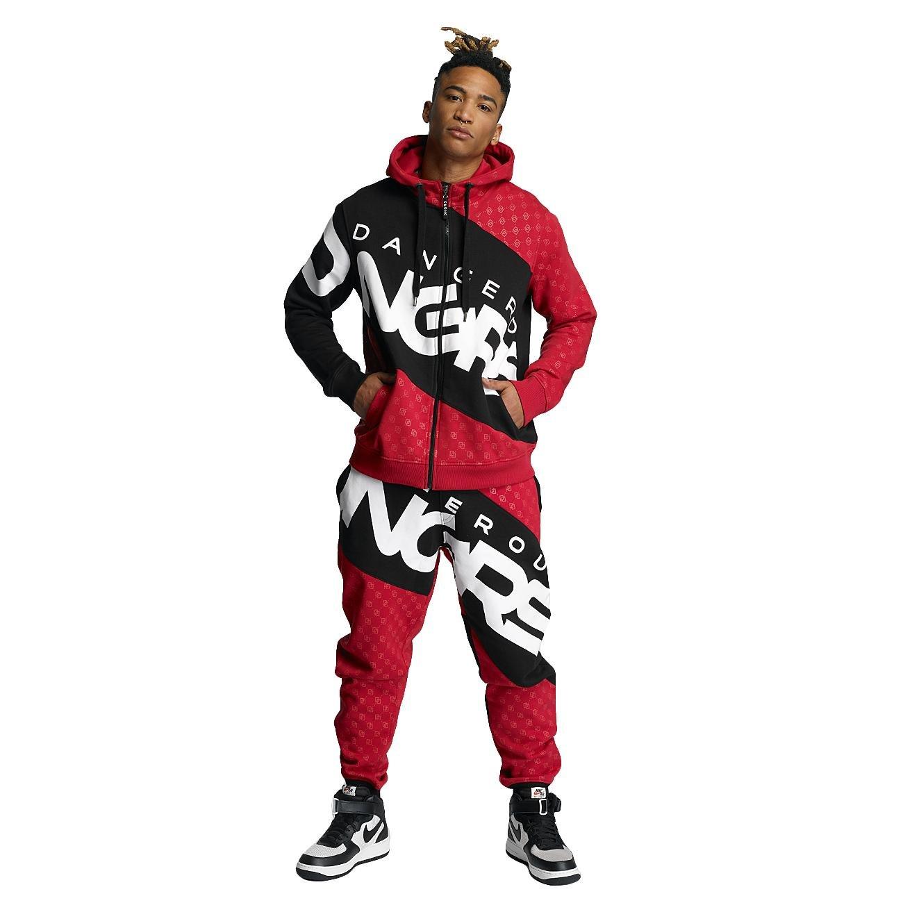 Dangerous DNGRS Männer Sport-Anzug Toco Suit in rot