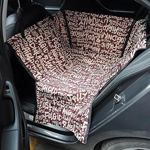 Hundedecke Auto - Autoschondecke für Hunde - wasserfestes, hochwertiges Material - schützt Ihre Autositze vor Schmutz und Tierhaaren