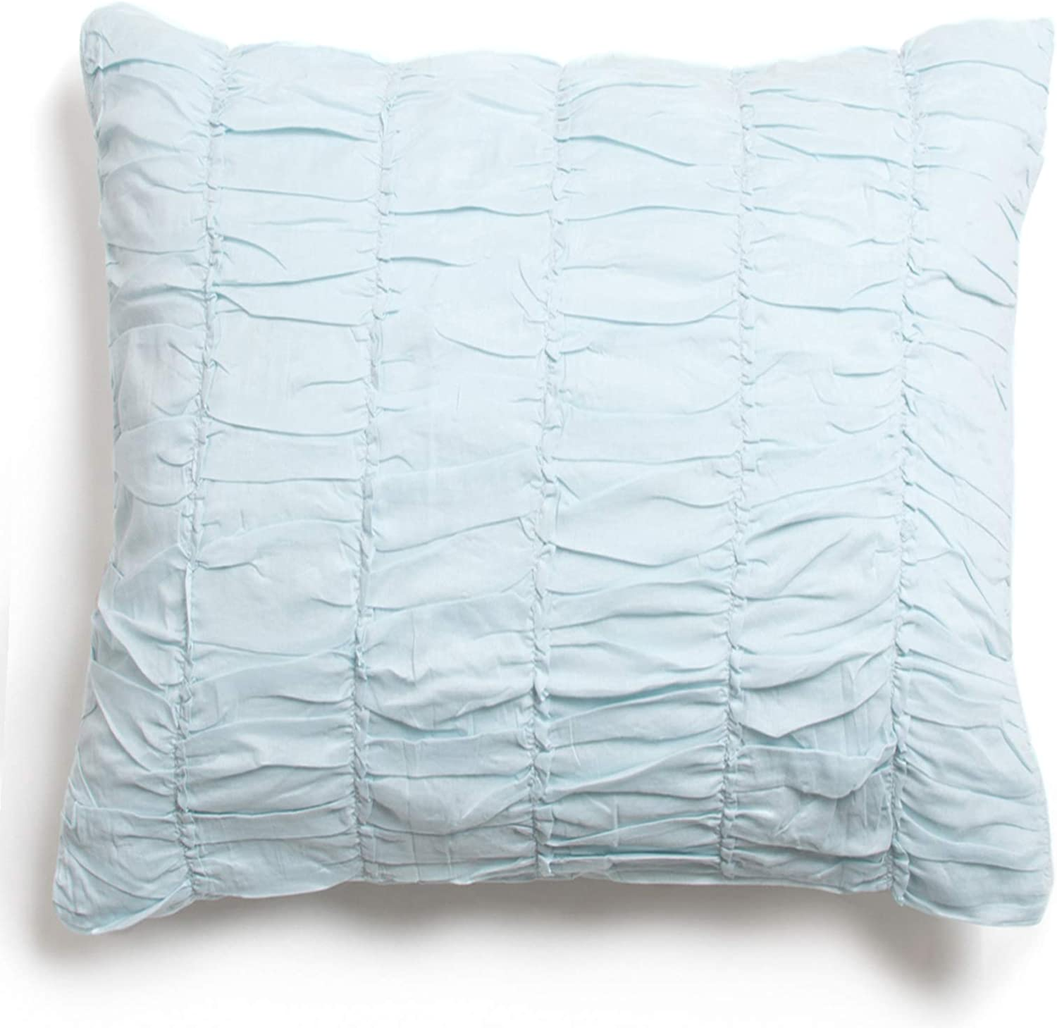 "Amity Home, Aqua Rachel Pillow, 18"" x 18"""