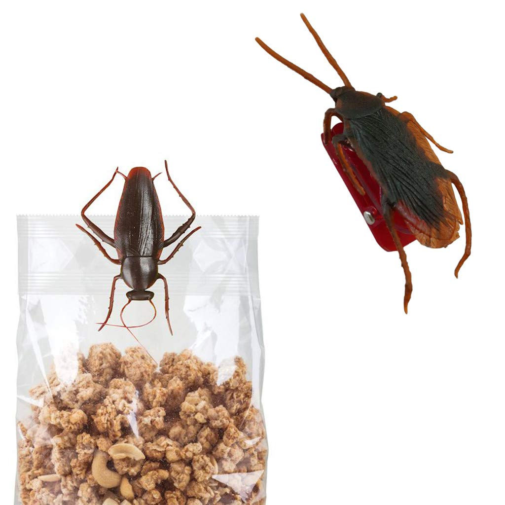 Special Funny Cockroach Clips for Bag-The Perfect Way to Prevent Your Snack (2, Red)