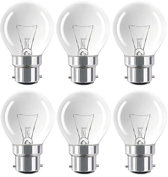 4x 25w Golfball Incandescent Dimmable Standard Clear SBC B15 Light Bulb Lamp