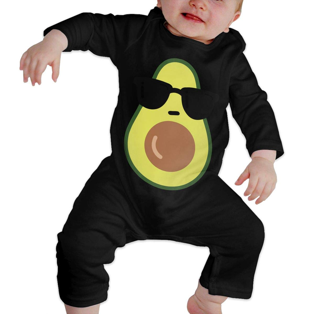 UGFGF-S3 Cool Avocado Baby Boy Long Sleeve Bodysuit Baby Rompers