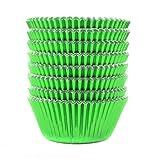 Eoonfirst Green Foil Metallic Cupcake Case Liners