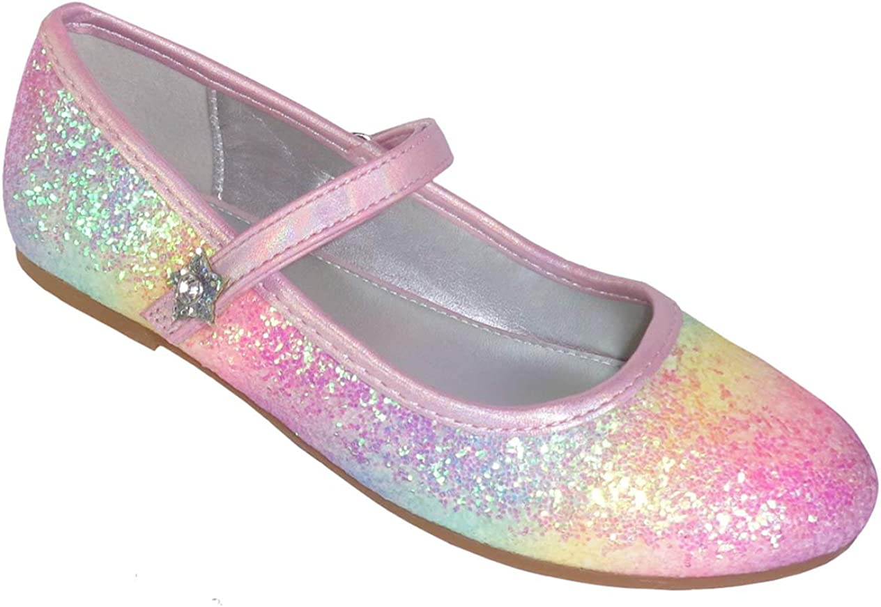 Girls Touch Fastening Shoes Girls School Shoes Mary Jane Ballet Ballerina Size