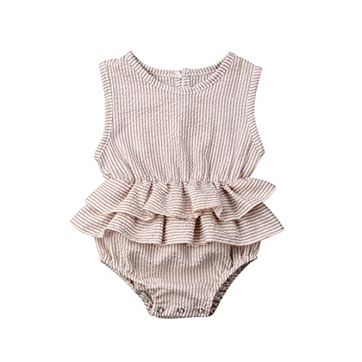 56f8a6a9869 Baby Girl Tutu Ruffles Romper Bodysuits Newborn Girl Sleeveless Floral  Bodysuit Jumpsuit Outfit Clothes for Girls