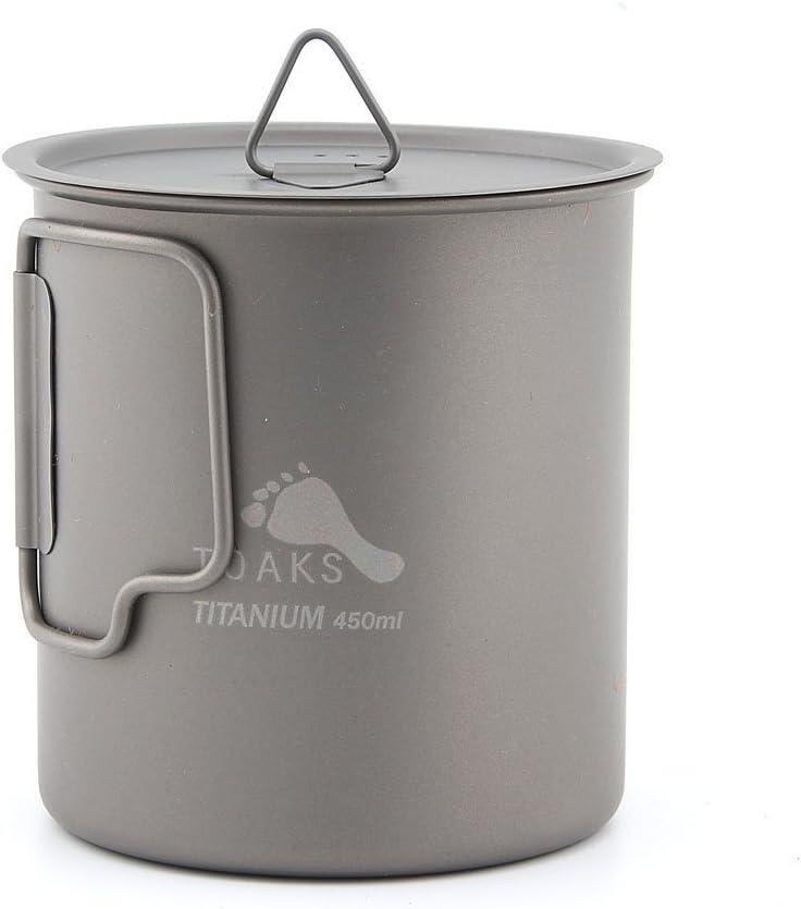 Toaks cup-450/Ultralight Outdoor stoviglie titanio tazza pieghevole acqua Cup