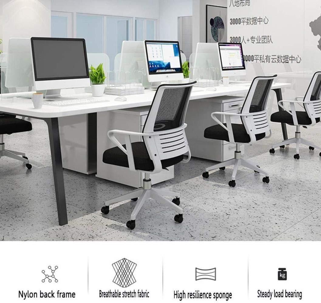 THBEIBEI Executive kontorsstol datorstol med ländrygg stöd nät kontorsstol höjd justerbar latex kudde lager vikt 120 kg (färg: Röd) Grått
