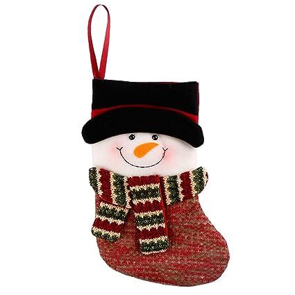 Navidad Calcetin, FindaGift Árbol de Navidad colgando Candy Vajilla Embalaje Decoración Calcetines con 3D lindo