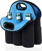 Hipiwe 6 Pack Bottle Can Carrier Tote Insulated Neoprene Baby Bottle