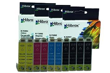 Hibrox Pack de 10 Cartuchos de Tinta Compatible Con Epson 4x T2991 ...