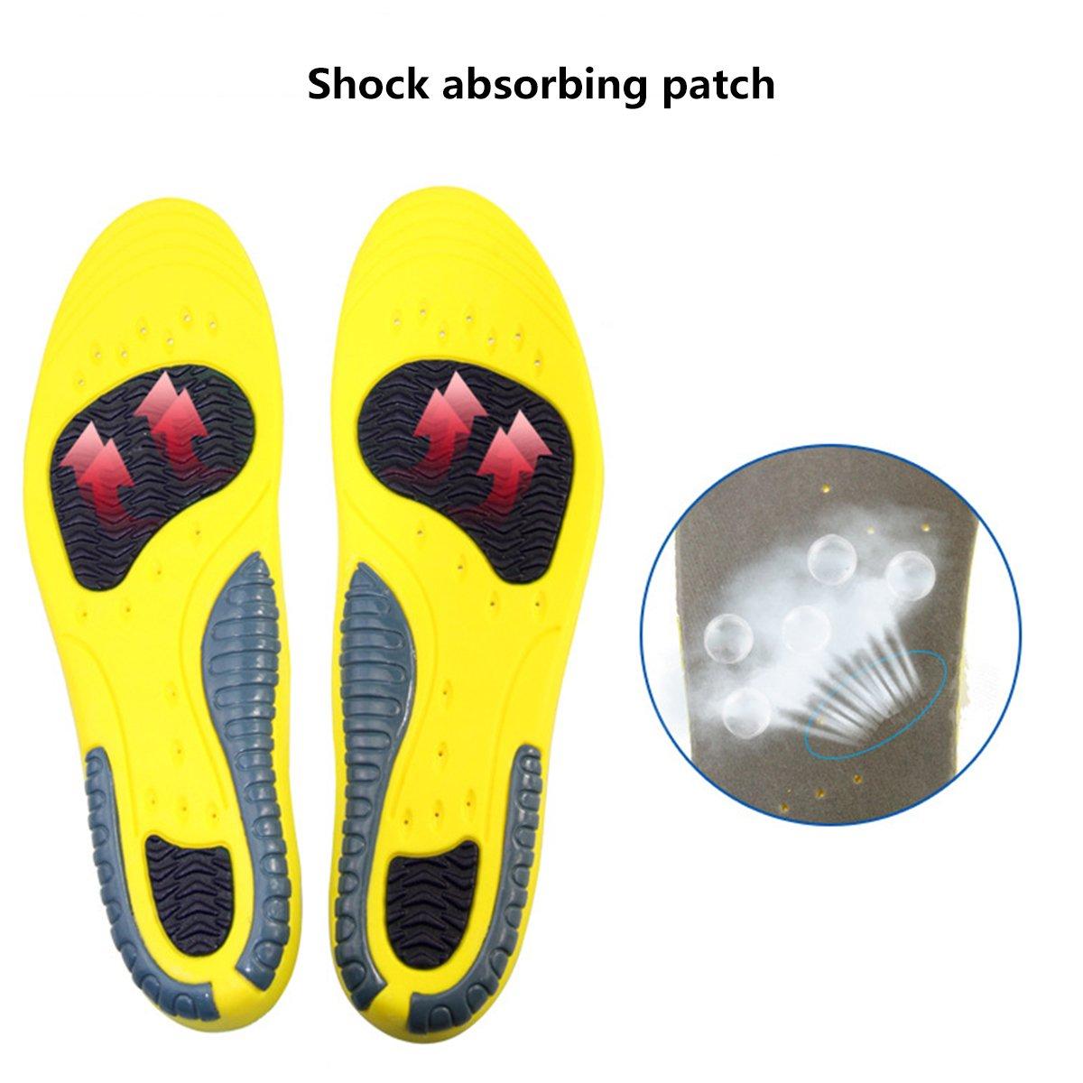 Plantillas GEL Sports Orthotic HUOU Plantillas para Zapatos de Gel Cuttable Insoles para la amortiguación para tallas 41-45: Amazon.es: Hogar