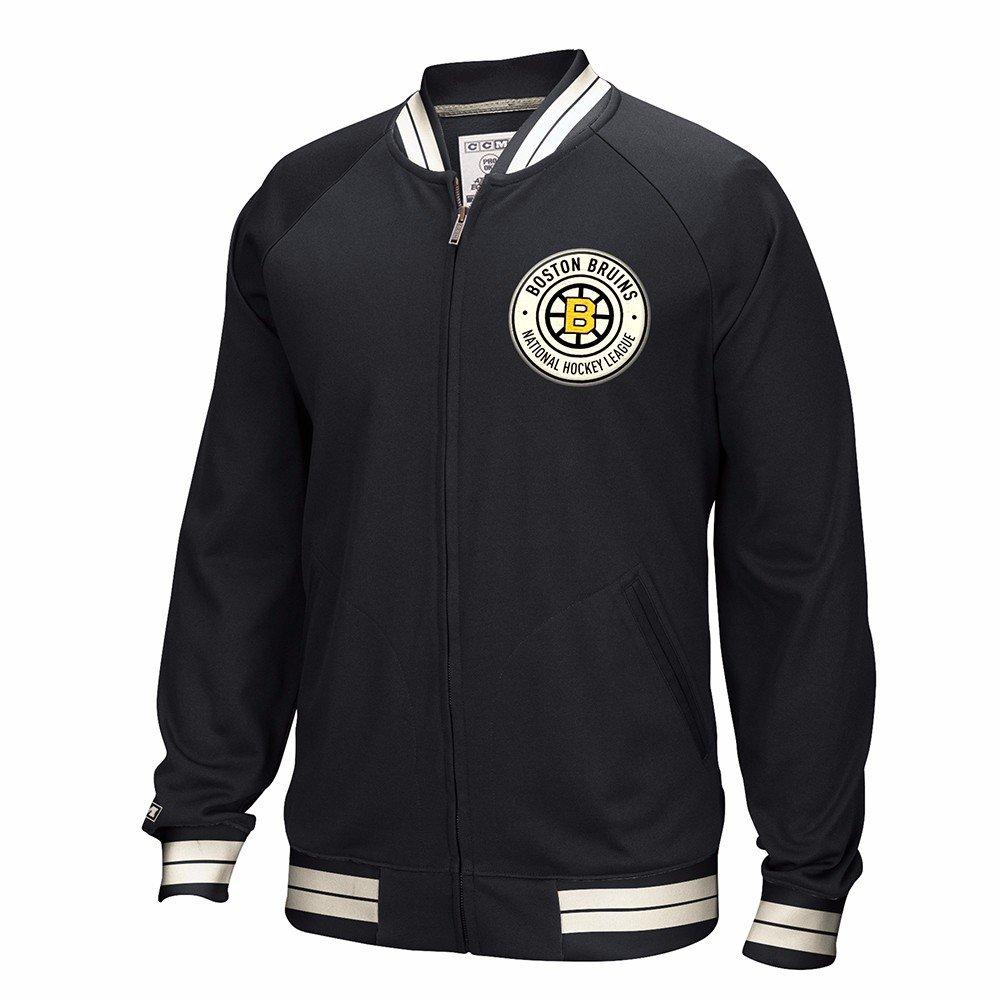 Boston Bruins NHL CCM negro Full cremallera Premium Throwback ...