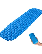 Ultralight Inflatable Sleeping Pad Mat ELETROP Backpack Sleeping Pad Ultra-Compact for Backpacking, Camping, Travel w Air-Support Cells Design Valentine's Day