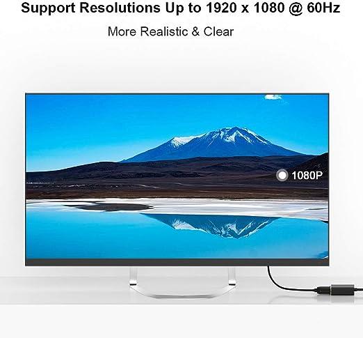 QGeeM Adaptador HDMI a VGA chapado en oro (macho a hembra) compatible con ordenador, escritorio, portátil, PC, monitor, proyector, HDTV, Chromebook, Raspberry Pi, Roku, Xbox y mucho más (negro): Amazon.es: Electrónica