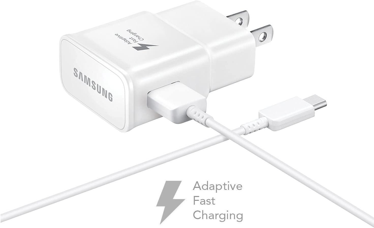 Wall Charger + 4 FT USB C Cable White 2017 OEM Quick Fast Charger for Samsung Galaxy A5 - AFC uses Dual voltages for up to 50/% Faster Charging! Cell Phones