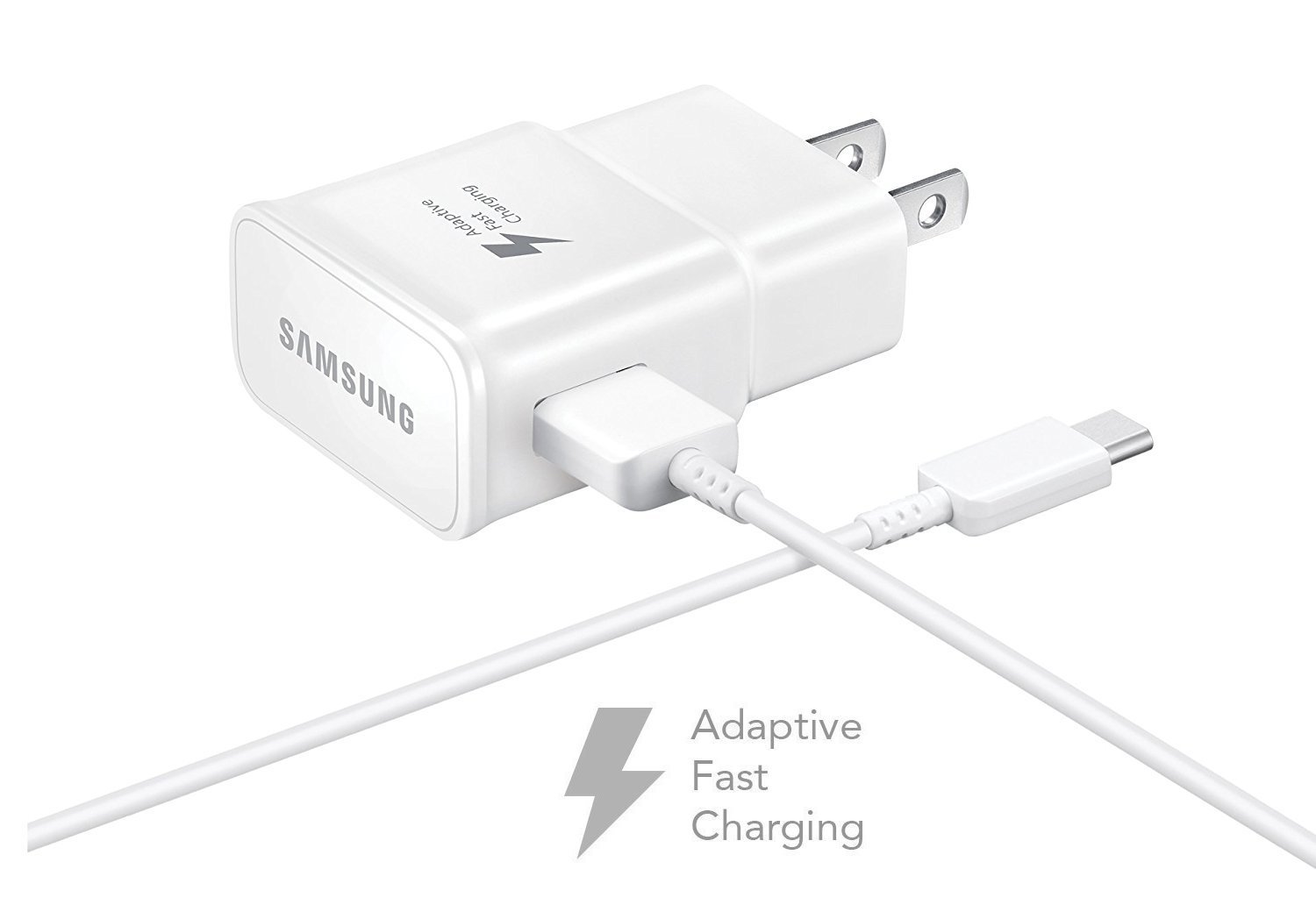 OEM Samsung Home Wall Charger for Galaxy S8/S8+ Note 8 - White EP-TA20JWE / EP-DN930CWE- Bulk Packaging