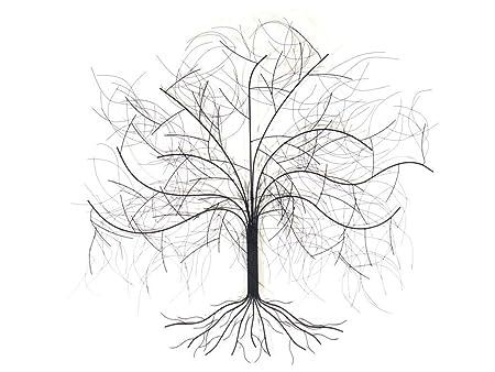 NEW - Contemporary Metal Wall Art Sculpture - Large Oak Tree: Amazon ...