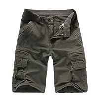 Kuson Hommes Shorts Bermudas Cargo Outdoor Coton Casual Lche avec Poche