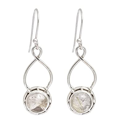 7f31cf5b2 Buy Artisans Crafted Handmade Golden Rutile Natural Gemstone 925 Sterling  Silver Jewelry Earring Online at Low Prices in India   Amazon Jewellery  Store ...