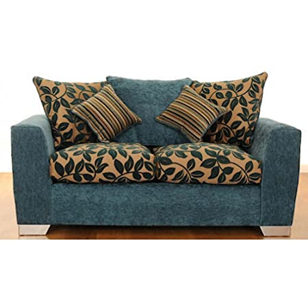 modern funky fabric 3 2 seater sofa amazon co uk kitchen home