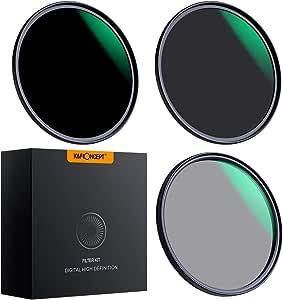 K&F Concept - Kit de Filtros para Objetivo 62mm ND8 ND64 y 62mm Polarizado Circular(CPL) con Funda: Amazon.es: Electrónica