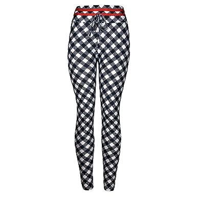 Amazon.com: CGKUI High Waist Yoga Pants, Plaid Yoga Pants ...