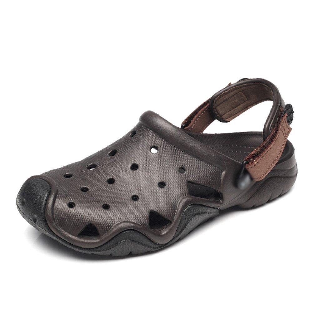 WFL Männer Sandalen Sommer Schuhe Rutschfeste Weiche Boden Loch Schuhe Sommer beiläufige große Größe Baotou Hausschuhe Mode Tragen Flut 3 fb7ad5