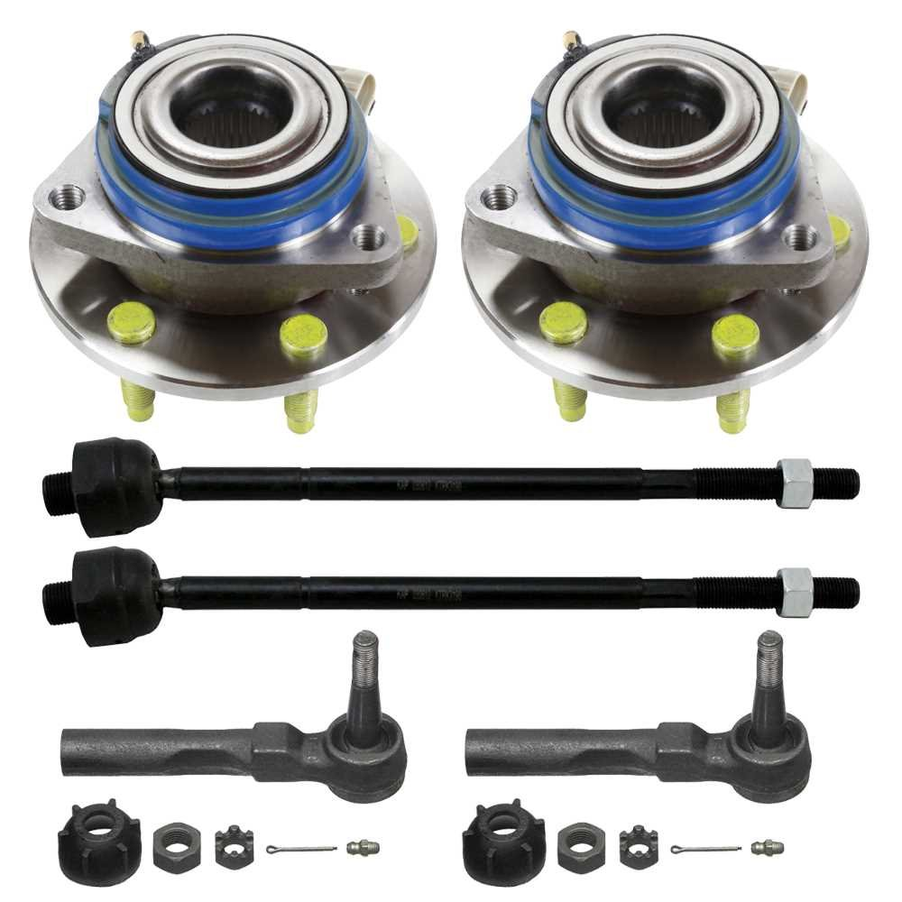 Prime Choice Auto Parts SUSPKG10076 4 Inner /& Outer Tie Rods /& 2 Hub Bearings