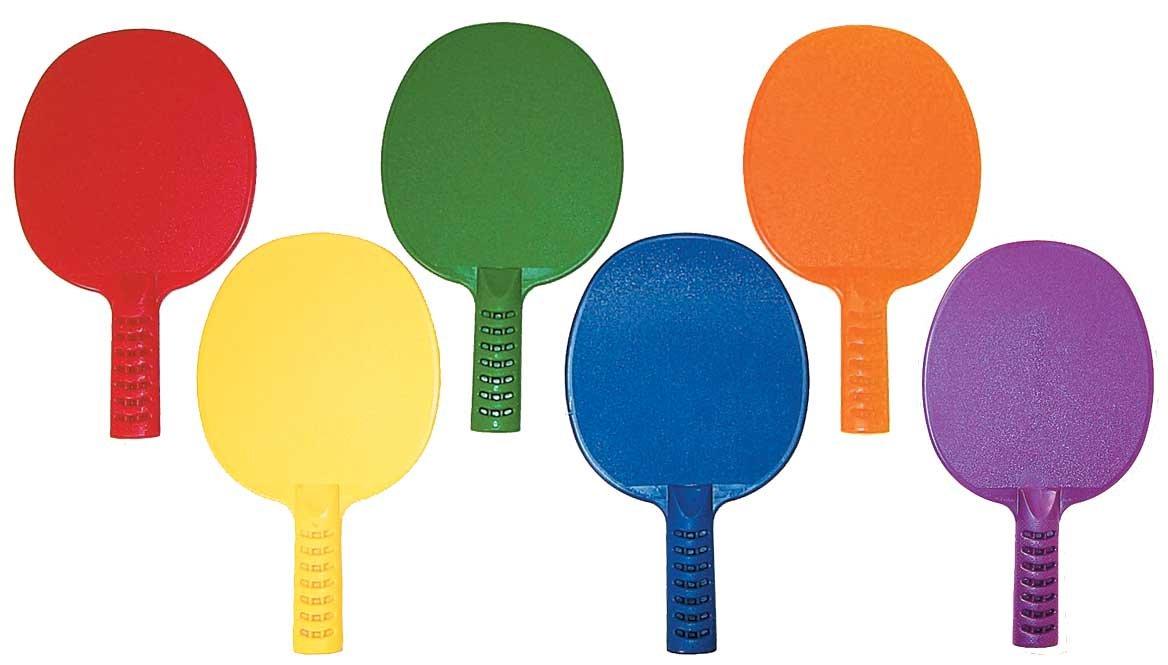 プラスチックテーブルテニスパドルのセット6 B01CR9TY94