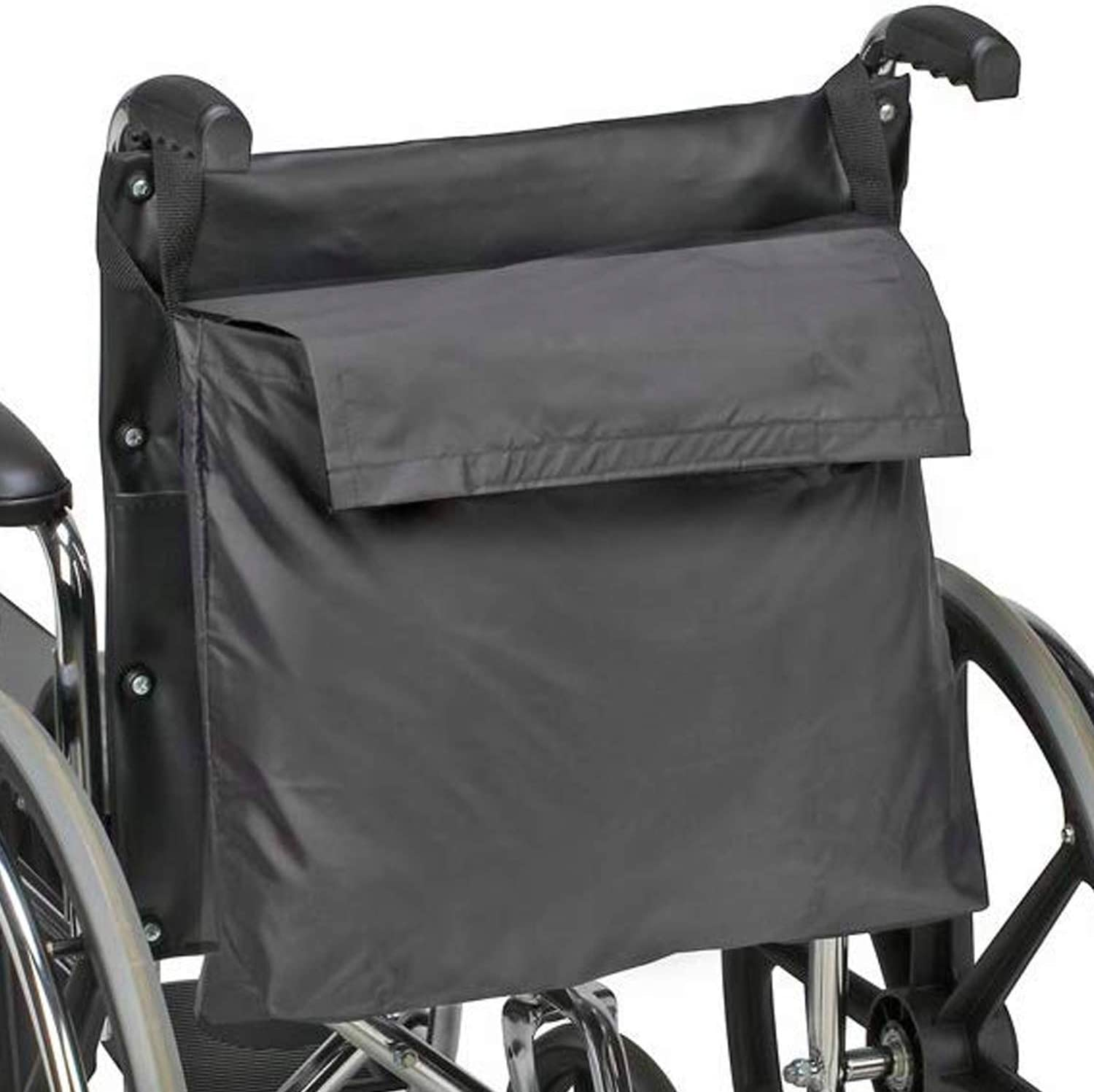 DMI Wheelchair Bag Provides Storage Area with Easy Access Pouch and Pockets, Flexible Straps Allow for Easy Install, Black 614bXzOEWGL