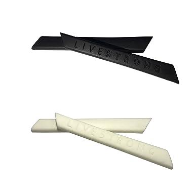 HKUCO Black/White Replacement Silicone Leg Set for Oakley Split Jacket Sunglasses Earsocks Rubber Kit HQTC5