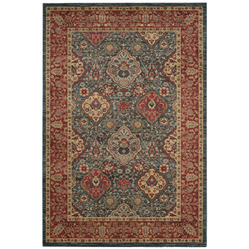 Safavieh Mahal Collection MAH655C Navy and Red Area Rug, 2'2
