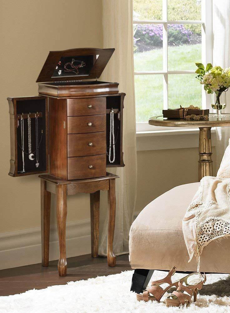 Amazon.com: Powell Louis Philippe acabado en nogal joyería ...