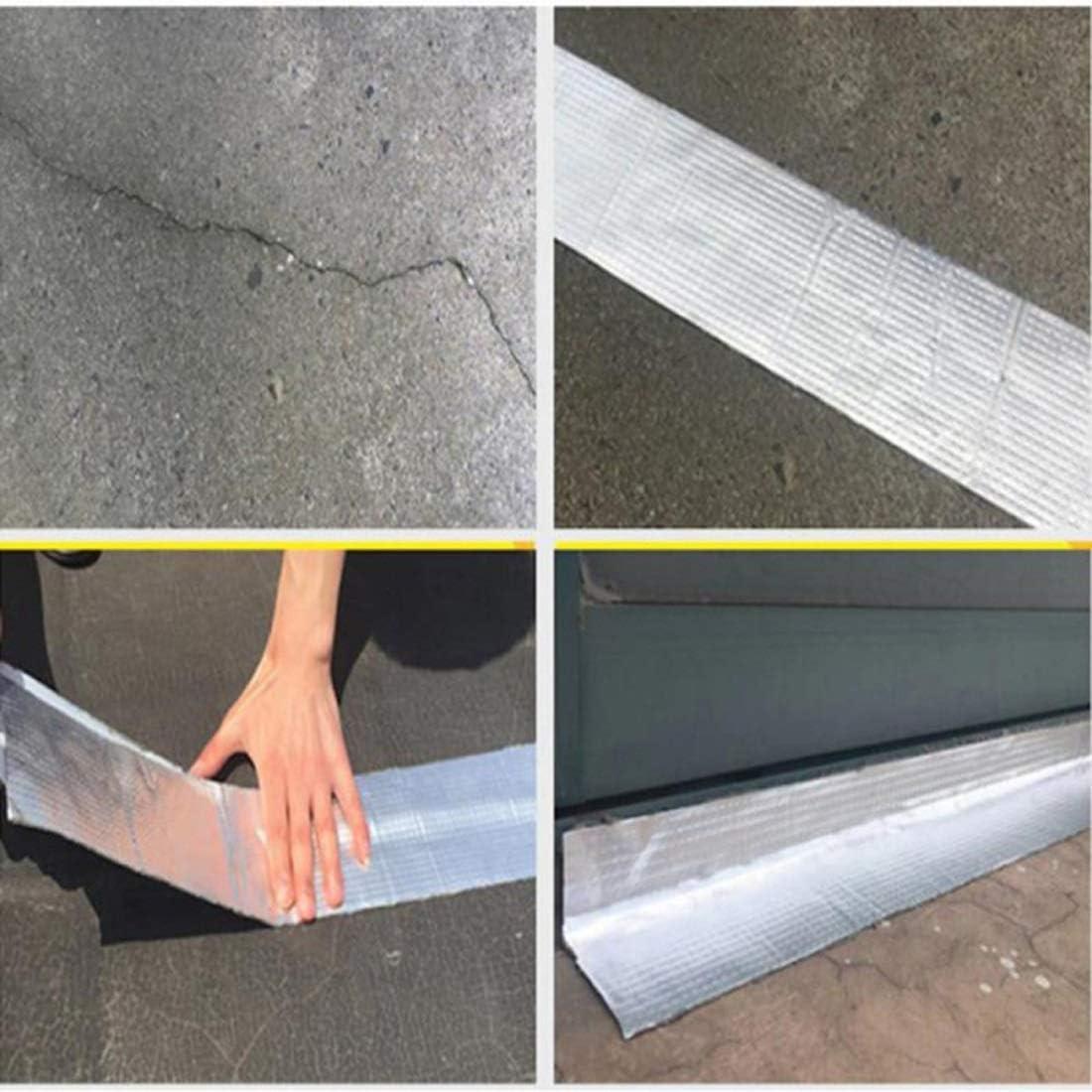 Bedeckt Mit Aluminiumfolien-Folienband For Die Abdichtungsreparatur 1,9 In Breite X 16,4 Ft L/änge Aluminum Wasserdichtes Butyl Klebeband,Dachreparaturband Marine-Gummidichtungsband