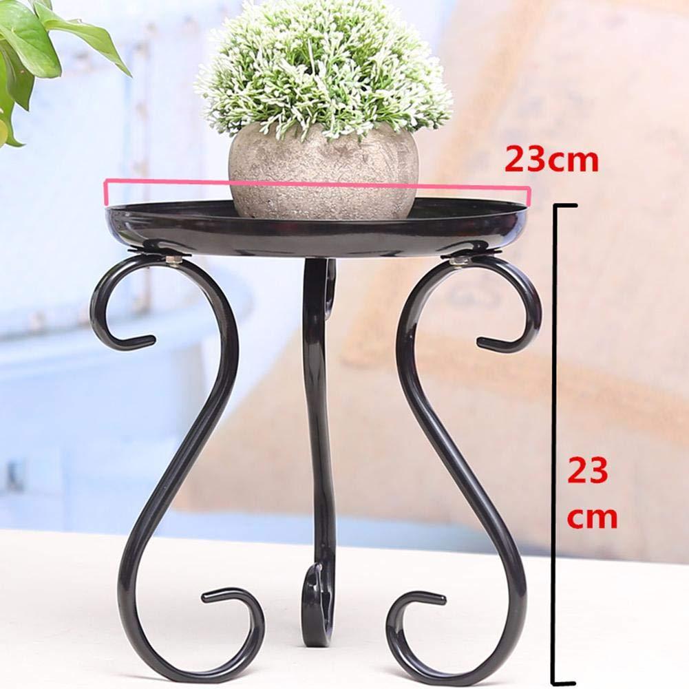 para Interior y Exterior Moderno Escalera para Flores balc/ón jard/ín Redondo Soporte para Plantas bozitian Taburete de Metal para Flores terraza sal/ón