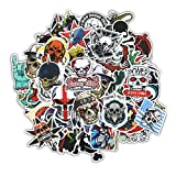 zombie laptop decal - Gumind Sugar Skull Stickers Pack 100 PCS Include Zombie Skeletons Ghosts Pattern Laptop,Cars,Motorcycle,Bicycle,Luggage,Graffiti,Skateboard Stickers Hippie Decals Bomb Waterproof