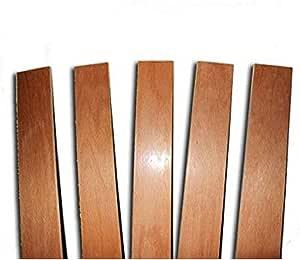 RETI DAMORA 3 listones curvados de madera de haya – Repuesto para Doga – 6,8 x 79 x 0,8 cm (kit de 3 unidades)