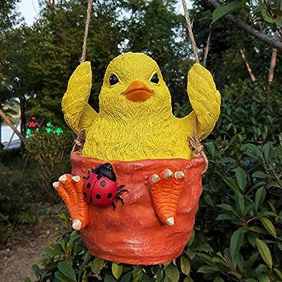 Escultura Estatuas Columpios De Pequeños Animales, Adornos Aéreos, Centros Comerciales, Jardines, Decoraciones De Jardín, B.: Amazon.es: Hogar