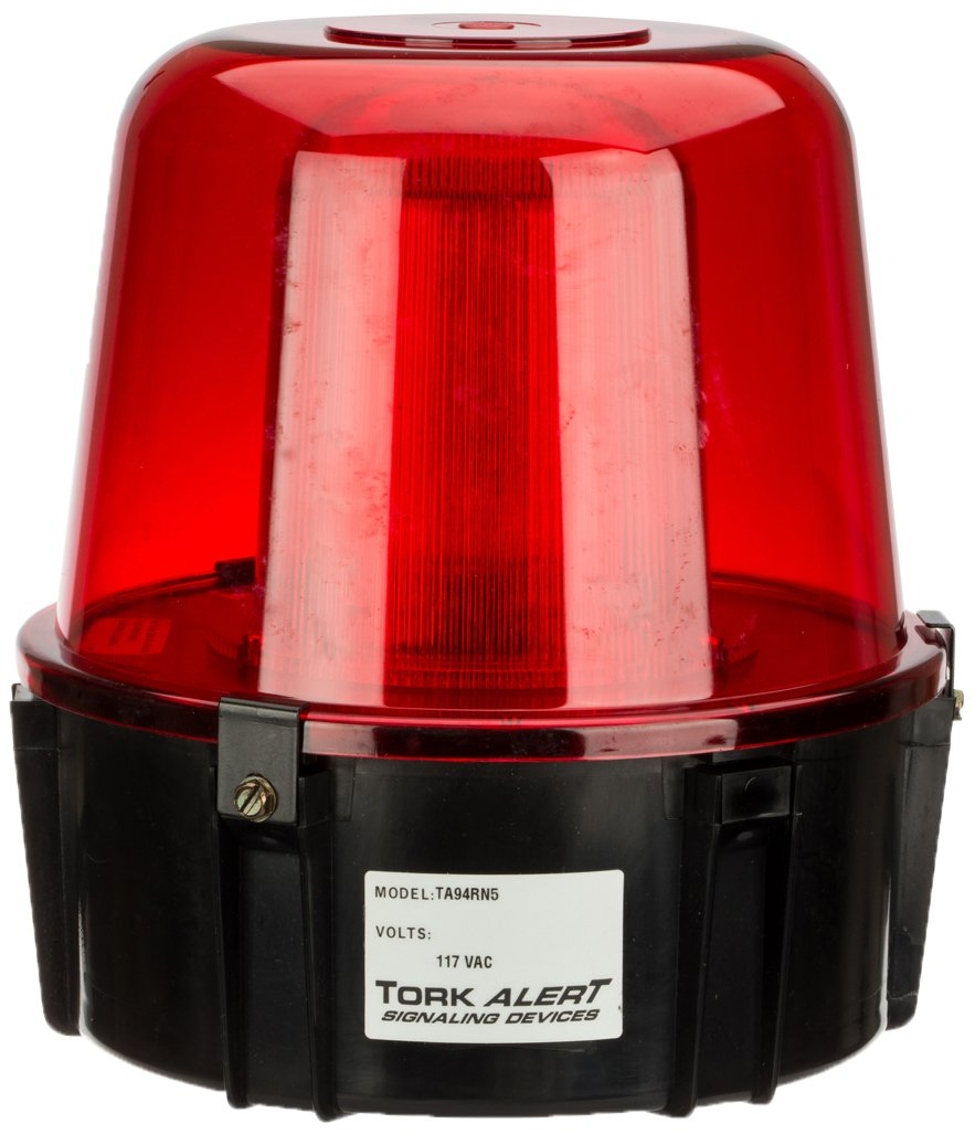 Electronic Strobe, Warning Light, 117VAC, For Outdoor, Red
